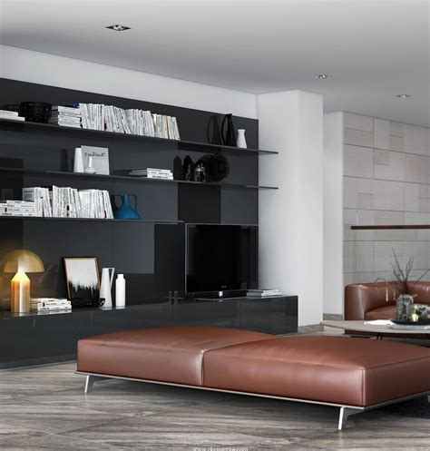 leather living room bench interior design ideas