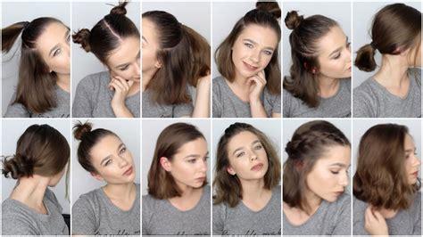 easy hairstyles  short hair youtube
