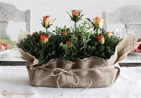 herb centerpieces  wedding rose wedding