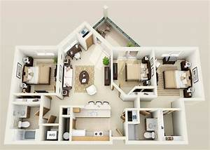 Three Bedroom Apartments Designs for Your Perfect Living ...