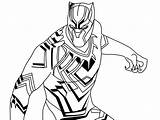Panther Coloring Pages Marvel Printable Drawing Superhero Colouring Flash Books Sketch sketch template