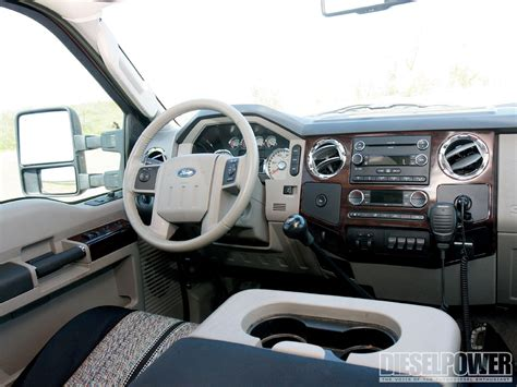 ford supercar interior 2009 ford f350 cummins diesel diesel power magazine