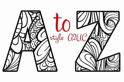 Letters Alphabet Creative Coloring Graphic Objects