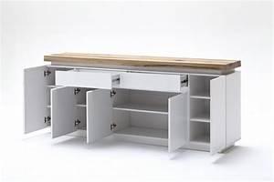 Sideboard Weiß 200 Cm : sideboard wei matt lackiert mit eine massive oberplatte breite 200 cm ~ Markanthonyermac.com Haus und Dekorationen