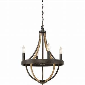 Rustic, Rope, Wrapped, Chandelier, -, Small
