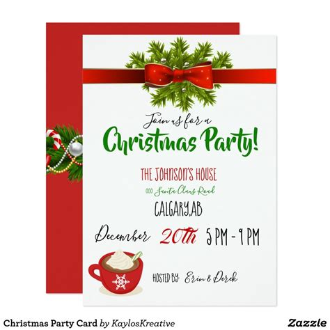 christmas party card  images party card christmas