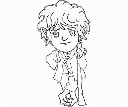 Hobbit Coloring Bilbo Baggins Pages Colouring Drawing