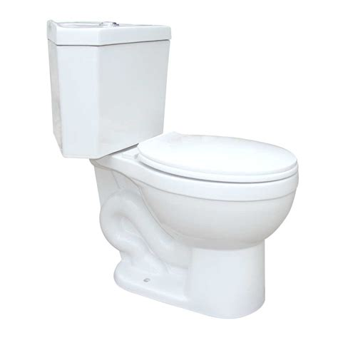 corner toilet dual flush seat included white