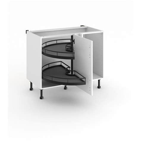 meuble de cuisine d angle bas 2 plateaux demi lune cuisine