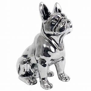 Statue Chien Design : statue d co bulldog silver 31 cm ~ Teatrodelosmanantiales.com Idées de Décoration
