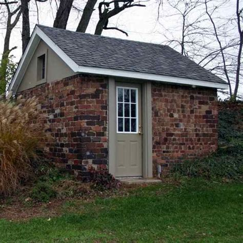 garden shed brick built nice place   office shed