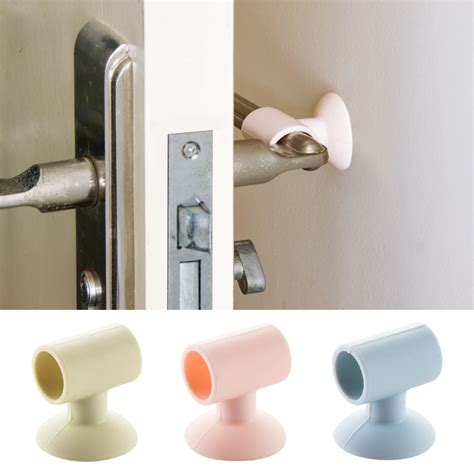 pc doorknob wall mute crash pad cushion cabinet door handle lock silencer attached silicone