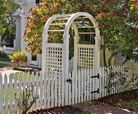 spindle top arbor  sudbury picket fence  gate