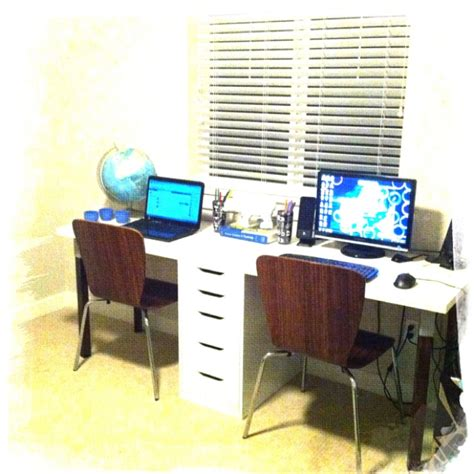our diy two person desk i love it house and home style
