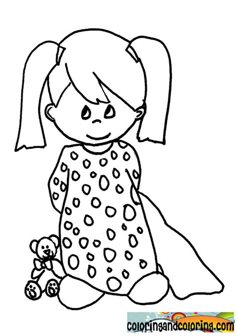 coloring pages kids  pajamas coloring home