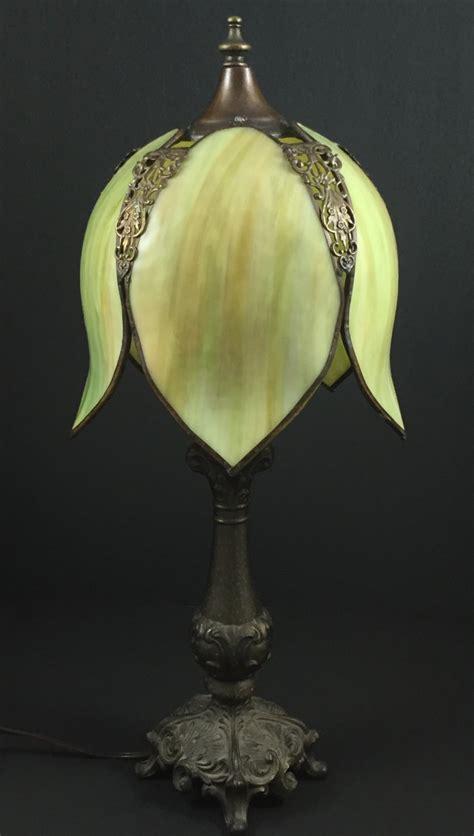slag glass l shade vintage light shadegreen slag glassgreen by