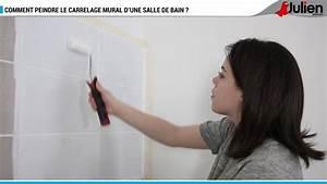 comment peindre le carrelage mural d39une salle de bain With peindre le carrelage d une salle de bain
