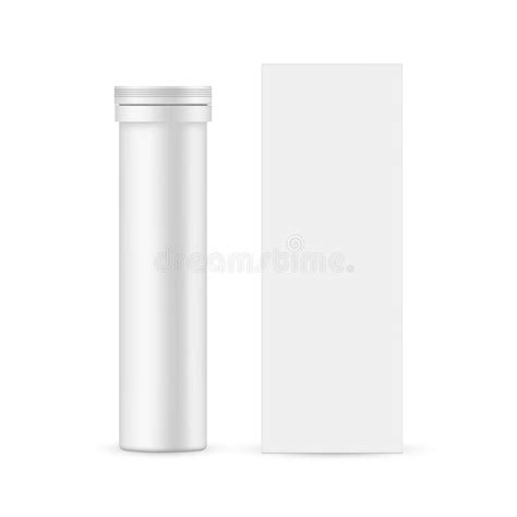 You can create a free account now. Plastic Tablets Tube Mockup - Front View Stock Vector ...