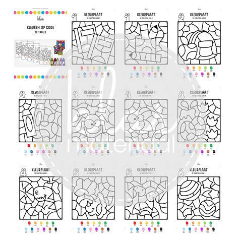Door in spelvorm de vermenigvuldigingen veel te herhalen, worden de tafels geautomatiseerd. Kleuren op code - tafels