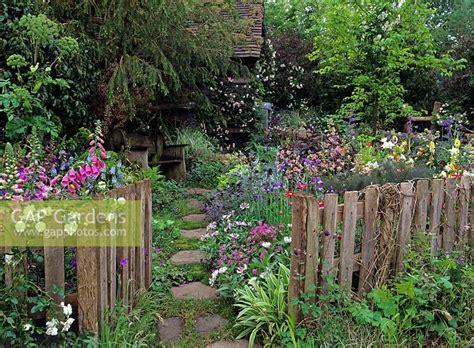 gap gardens rustic fence enclosing  semi wild garden