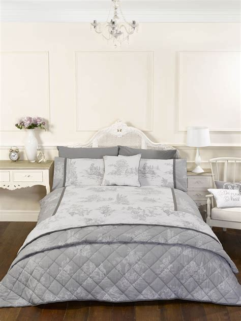 Duvet Covers Vintage Style by Vintage Style Grey Quilt Duvet Covers Or Cushion Covers Ebay