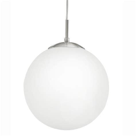 white globe pendant light eglo 85262 rondo medium opal white glass globe pendant light