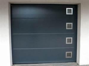 menuiserie btg realise votre porte de garage en aluminium With porte garage grise