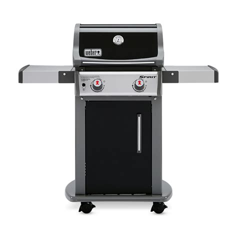 weber spirit e 210 abdeckhaube shop weber spirit e 210 black porcelain enamel 2 burner 26 500 btu liquid propane gas grill at
