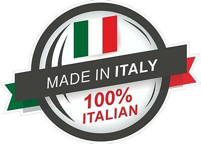 Brand Of Car Made In Spain by Made In Italy 100 Italian Rosette Il Tricolore Flag