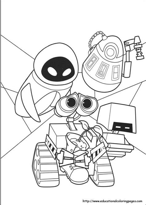 Coloring Wall by Wall E Coloring Pages Educational Coloring