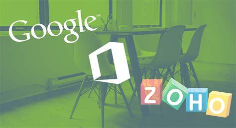 zoho desk vs freshdesk google apps vs office 365 vs zoho docs comparing