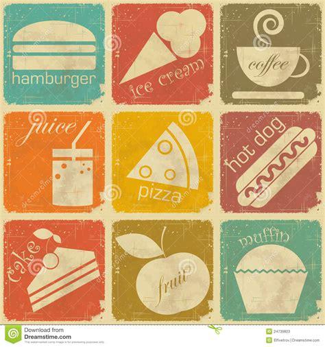 vintage cuisine set of vintage food labels stock photos image 24739803