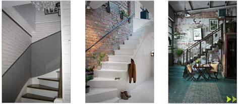 mont 233 e d escalier color 233 e boh 232 me folk moderne design avec des miroirs des livres