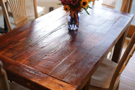 custom farmhouse dining table   lazarus wood project