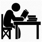 Studying Study Icon Student Reading Desk Icons