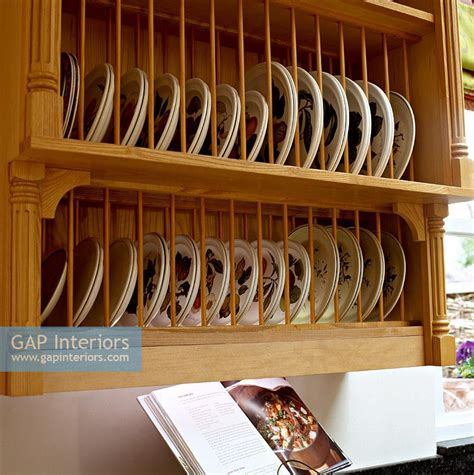 kitchen cabinets plate rack gap interiors wall mounted plate rack in classic kitchen 6327
