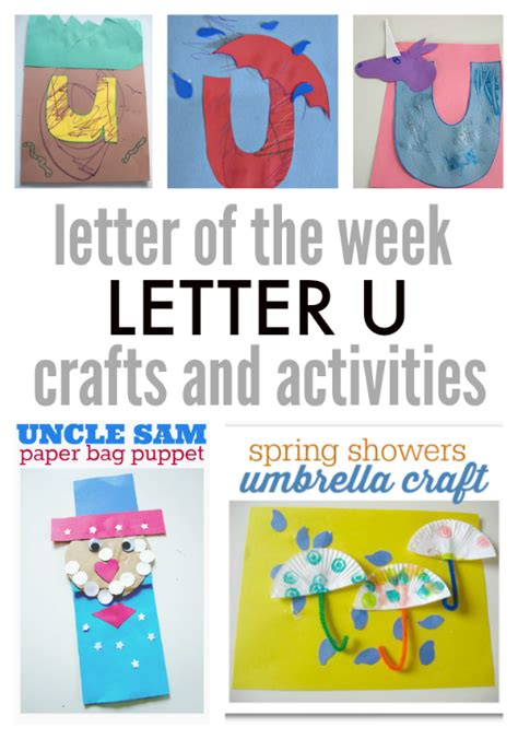 letter of the week letter u crafts and activities no 696 | letter u letter of the week activities
