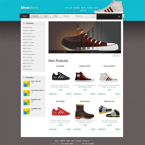 Shoes Template Ecommerce Store Theme For Shopping