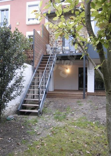 escalier metallique exterieur en kit photo dt108 esca droit 174 escalier droit ext 233 rieur design