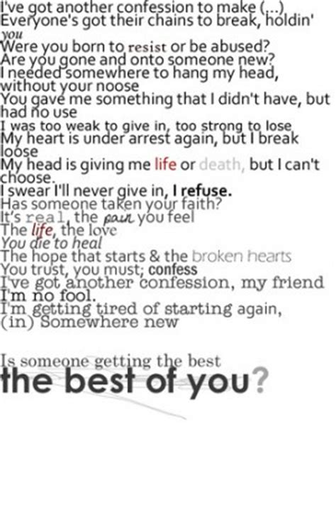 Best Of You Lyrics Best Of You Foo Fighters Song Quotes Quotesgram