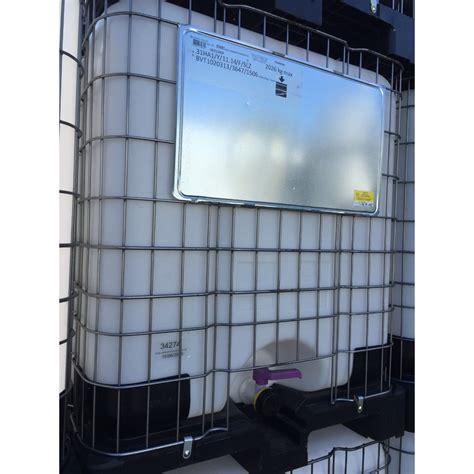 Cet accessoire est spécialement conçu pour les cuves 1000 litres plastique (aussi appelé ibc ou grv) utilisées pour la récupération, le stockage et la consommation d'eau de pluie. Cuve IBC de 1000 Litres NEUVE homologuée UN - CI1000/UN