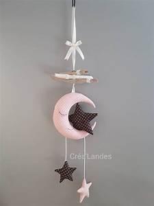 Mobile Bois Flotté : mobile bois flott lune toile d coration chambre enfant ~ Farleysfitness.com Idées de Décoration