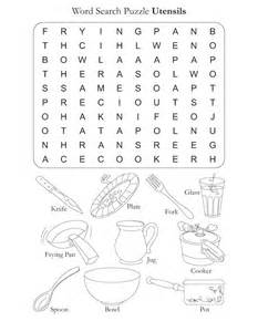 Kitchen Utensils Coloring Pages Printable