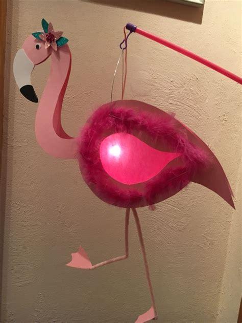 flamingo laterne diy laternelaufen pink rosa martinssingen sankt martin laternen basteln