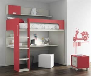 Lit Mezzanine Bureau Enfant : le lit mezzanine et bureau plus d 39 espace ~ Teatrodelosmanantiales.com Idées de Décoration