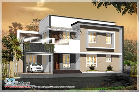 two house plans with front porch contemporary style house elevation kerala model home plans