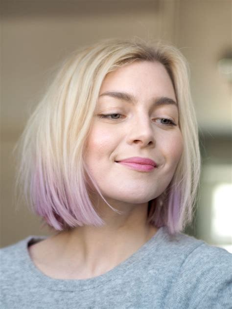 Dip Dyed Pastel Hair Lilac Lavender Violet Photo
