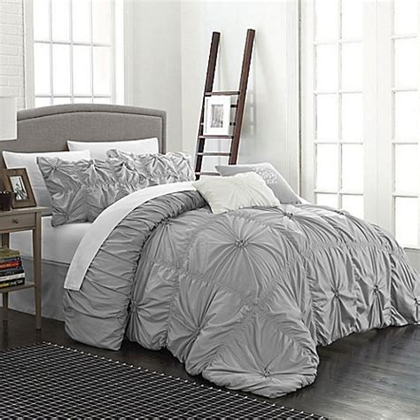 buy chic home hilton 6 piece queen comforter set in silver