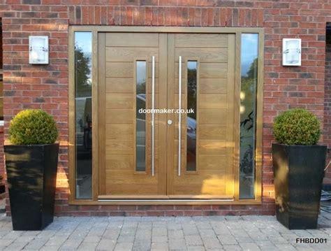 contemporary front doors oak iroko   woods