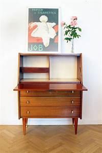 Secrtaire Bureau Vintage Annes 60 Scandinave Luckyfind